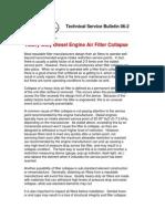 Heavy Duty Diesel Engine Air Filter Collapse (TSB 06-2)