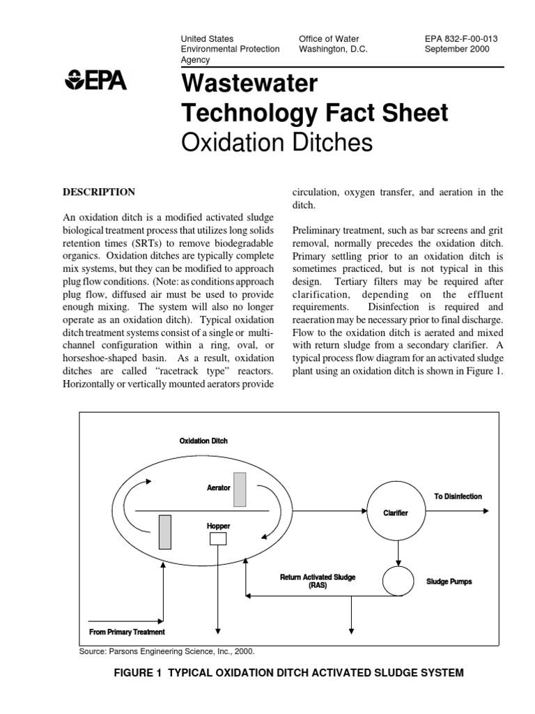 Zanjn de oxidacin epa sewage treatment chemical engineering pooptronica Images