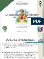 La Integración Curricular