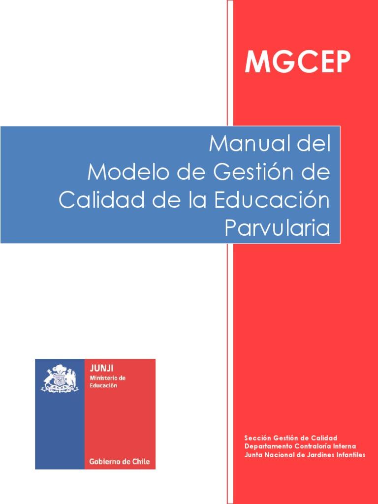Manual Del Modelo de Calidad de La Educacion Parvularia Para ...