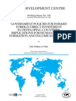 Government Policies for Inward FDI in AFRICA