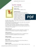 Oraculo Belline Nº45 - Felicidad _ La Magia Del Tarot