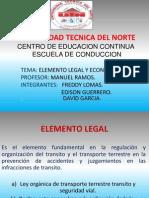 Elemento Legal y Economico