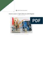 Adafruit Arduino Lesson 4 Eight Leds