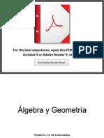Algebra Lineal y Geometria Analitica
