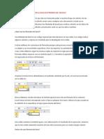 Funciones y Formulas en La Hoja Electronica de Cálculo