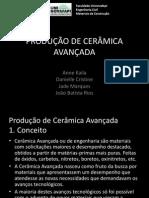 Materiais de Construção - Produção de Cerâmica Avançada