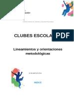 Lineamientos y Orientaciones Metodológicas de Clubes Escolares