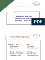 UD3_1 Possessive Adjectives
