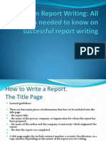 Tips on Report Writing RW