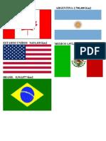 5 Paises de America Mas Grandes