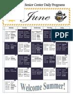 June 2014 Activity Calendar