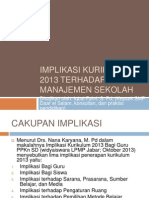 Implikasi Kurikulum 2013 Terhadap Manajemen Sekolah
