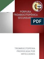 Purpura Trombocitopenica Secundaria