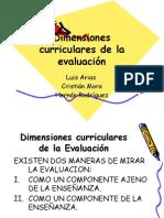 Dimensiones Curriculares de La Evaluación 3