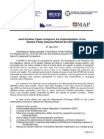 Joint Position Paper to Improve the Implementation of the EPIRA