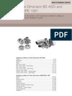 Tube Dimension BS 4825 and ASME BPE 1997