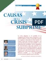 Causas Crisis Subprime
