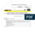 One Transport Order