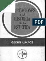 Lukacs Aportaciones a La Estetica