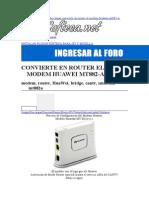 39982946 Configuracion a Modo Ruter Mt882A Huawei