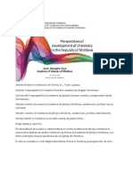 Perspectives of development of chemistry in the Republic of Moldova