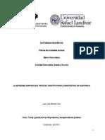 La Antinomia Derivada Del Proceso Constitucional en Guatemala.154220931