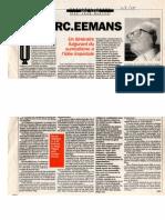 Marc Eemans, Un Itinéraire Fulgurant Du Surréalisme à l'Idée Impériale (National Hebdo 03.09.1998)