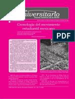 Cronología Del Movimiento Estudiantil Mexicano Gaceta BUAP 19 2007