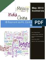 IB Economics HL Portfolio