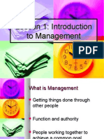 Intro to Management