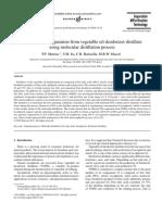 27 - Free Fatty Acid Separation From Vegetable Oil Deodorizer Distillate Using Molecular Distillation Process