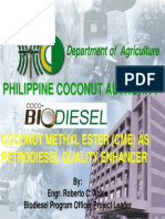 32 - Coconut Methyl Ester (CME) as Petrodiesel Quality Enhancer