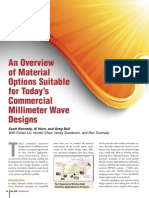An Overview of Material Options Suitable for Today's Commercial Millimeter Wave Designs