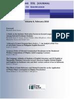 The Philippine ESL Journal