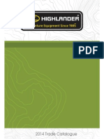Highlander Outdoor Product Catalog 2014