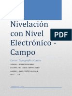 Nivelación Con Nivel Electrónico