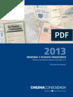 Memoria 2013 Chilena