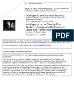 Intelligence in the Twenty-First Century (Change and Continuity or Crisis and Transformation)