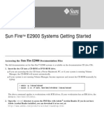 Sun FireTM E2900 Systems Getting Started