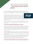 Imam Ibn Taymiyya About Saints and Sainthood