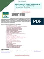 International Journal of Computer Science Applications & Information Technologies (IJCSAIT)