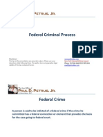 Federal Criminal Process