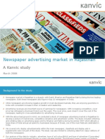 Kanvic Newspaper Ad Market Rajasthan