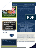 principals 2a newsletter to all staff  2013-14 issue 1