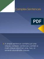 Complex SentencesEnglish