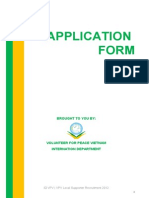 VPV-Local Supporter Application Form Spring 2012