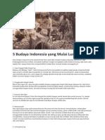 5 Budaya Indonesia Yang Mulai Luntur