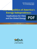 The Geopolitics of America_s Energy Industry - Implications for India
