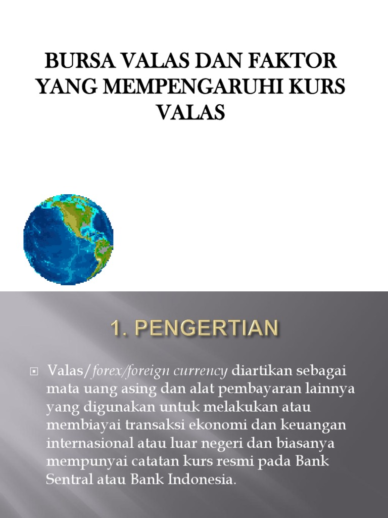 Pasar valuta asing - Wikipedia bahasa Indonesia, ensiklopedia bebas